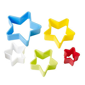 5 Star Shaped Cookie Cutters Set