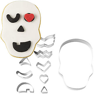 9pc Halloween Skull Cookie Cutter Set