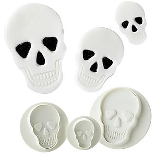 PME 3pc Halloween Skull Plunger Cutters set