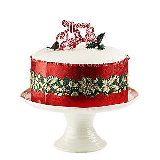 Red Holly Christmas Cake Frill alt image 3