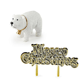 Polar Bear and Merry Christmas Resin Cake Topper alt image 1