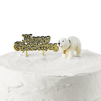 Polar Bear and Merry Christmas Resin Cake Topper alt image 2