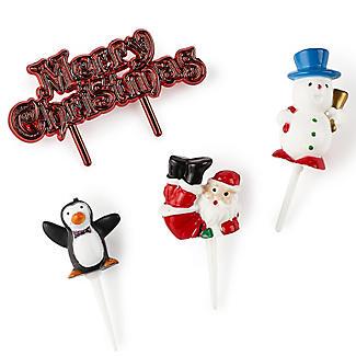 4pc Polar Pals Christmas Character Cake Topper Set