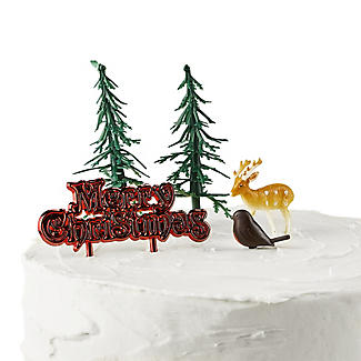 5pc Festive Forest Cake Topper Set alt image 2
