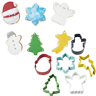 6 Christmas Cookie Cutters on a Ring