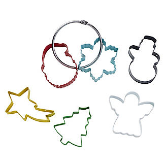 6 Christmas Cookie Cutters on a Ring alt image 5
