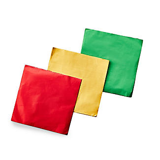 150 Foil Confectionery Wrappers 15cm Sq.