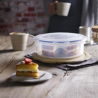 LocknLock Round Cake Carrier & Food Storage Container – 25cm Dia. alt image 2