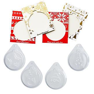 Handmade Chocolate Christmas Card Kit  alt image 5