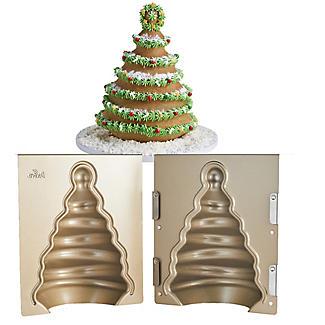 Decora 3D Christmas Tree Cake Tin