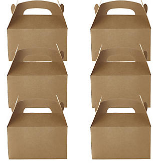 6 Craft Paper Treat Boxes