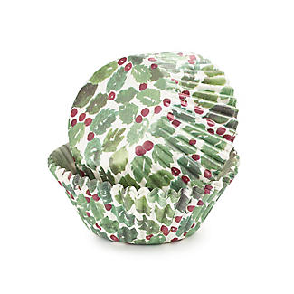 40 Holly Greaseproof Paper Cupcake Cases