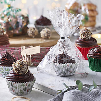 40 Holly Greaseproof Paper Cupcake Cases alt image 2