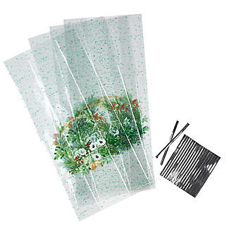 20 Wreath Cellophane Presentation Bags alt image 2