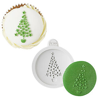 Katy Sue Designs Christmas Tree Cake Topper Silicone Mould