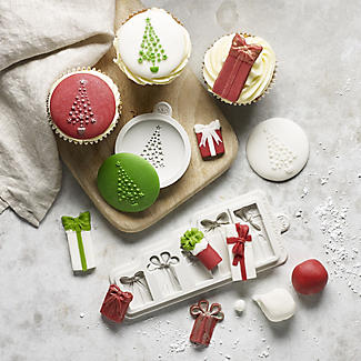 Katy Sue Designs Christmas Tree Cake Topper Silicone Mould alt image 2