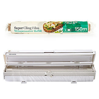 Wrapmaster Film Dispenser and Lakeland Super Cling Film Refill 150m