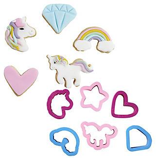 6 Mini Unicorn Cookie Cutters