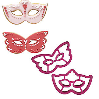 2 Venetian Mask Cookie Cutters alt image 1