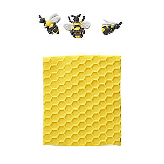 Katy Sue Designs Honeycomb and Bees Silicone Icing Mould alt image 5