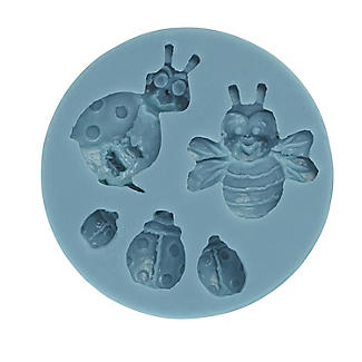 Lakeland Ladybird and Bee Cake Toppers Silicone Icing Mould alt image 3