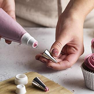 3-Piece Standard Icing Bag Nozzle Coupler Set with Cap alt image 4