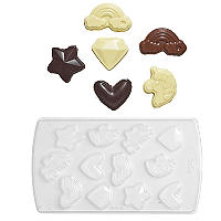 12 Unicorn Chocolate Shapes Mould Kit with Bags and Stickers