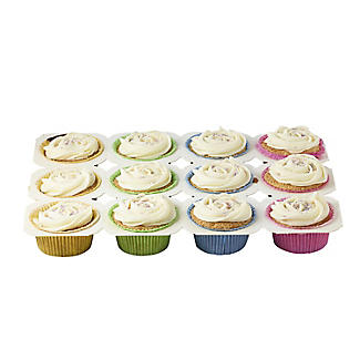 3 Disposable 12 Hole Cupcake Baking Trays