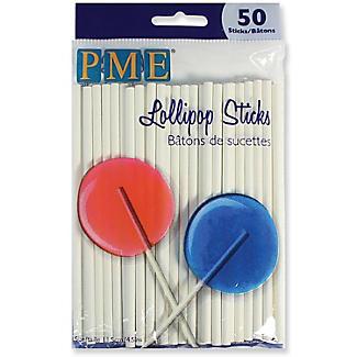 50 Paper Lollipop Sticks 11.5cm