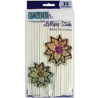35 Paper Lollipop Sticks 16cm