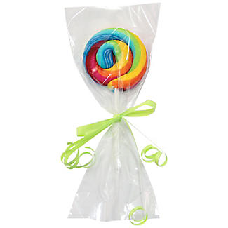 25 Clear Lollipop Bags with Silver Ties  alt image 2