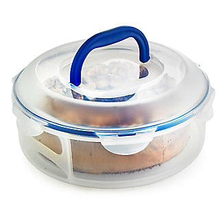 Set of 2 LocknLock Clear Round Cake Carriers alt image 2