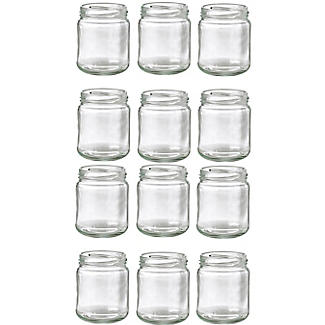 12 Small Glass Jam Jars Without Lids 8oz 227g alt image 2