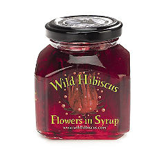 Wild Hibiscus Flowers In Syrup For Sparkling Drinks