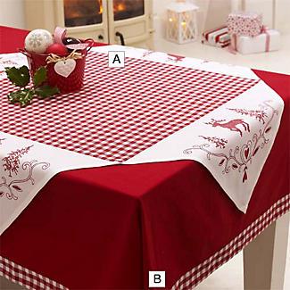 Christmas Check Tablecloth