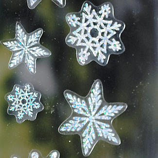 Sparkly Snowflake Window Decorations alt image 2
