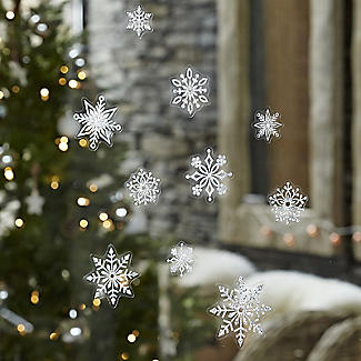 Sparkly Snowflake Window Decorations alt image 3