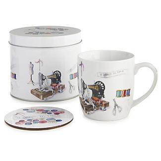 Stitch In Time Mug and Coaster Set