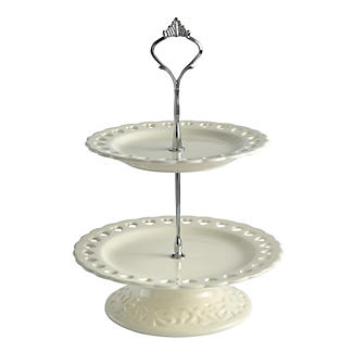 Amore Ceramic Two Tier Cake Stand alt image 2