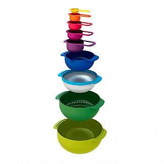 Joseph Joseph Nest 9 Plus Nesting Bowls Colander Sieve and Spoon Set  alt image 2