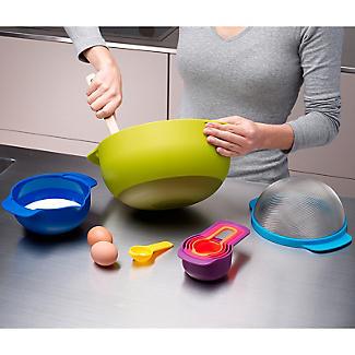 Joseph Joseph Nest 9 Plus Nesting Bowls Colander Sieve and Spoon Set  alt image 5
