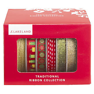 Traditional Red & Gold Ribbon