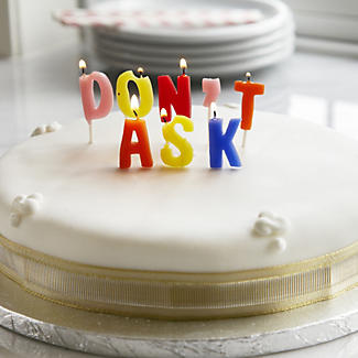 Don't Ask Birthday Cake Candles