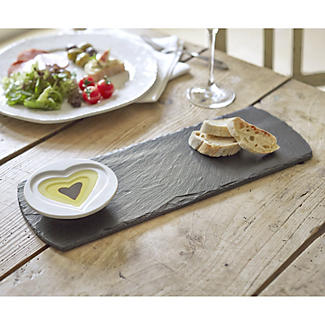 Slate Oil and Vinegar Platter