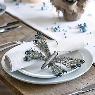 Peacock Glitterfly Clip