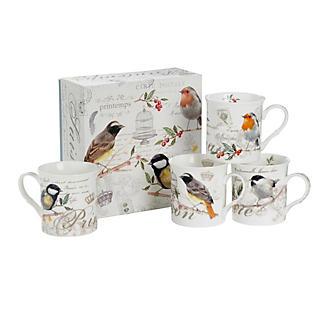 Porcelain Bird Mug Gift Set
