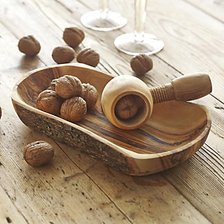Olive Wood Nut Cracker Set
