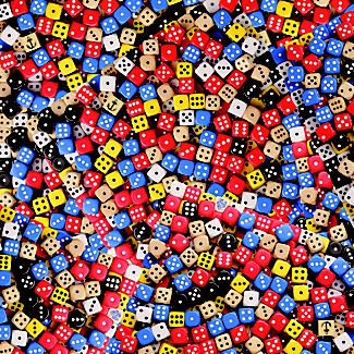 Almost Impossible Dice and Dominos Jigsaw Puzzle alt image 2