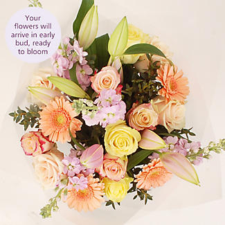 Peachy Blush Bouquet With Free Express Delivery alt image 3