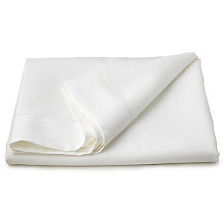 White Linen-Look Tablecloth